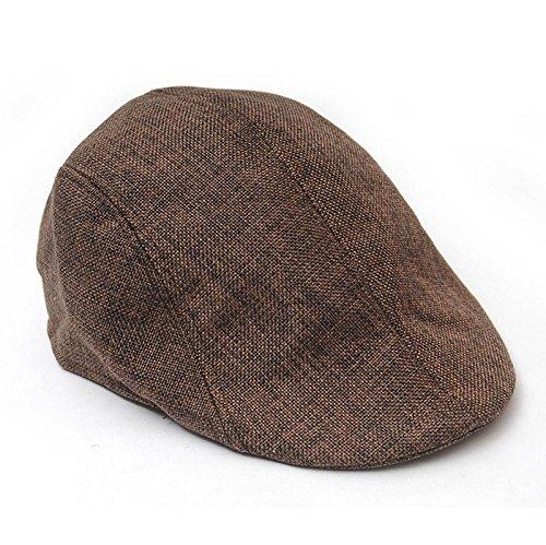 Poity Men Golf Driving Sun Flat Cabbie Newsboy Unisex Herringbone Duckbill Ivy Hat Cap ()