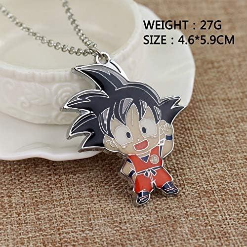 Inveroo Dragon Ball Kid Goku Super Saiyan Necklace Cartoon Chibi Character Enamel Pendant Man Woman Jewelry