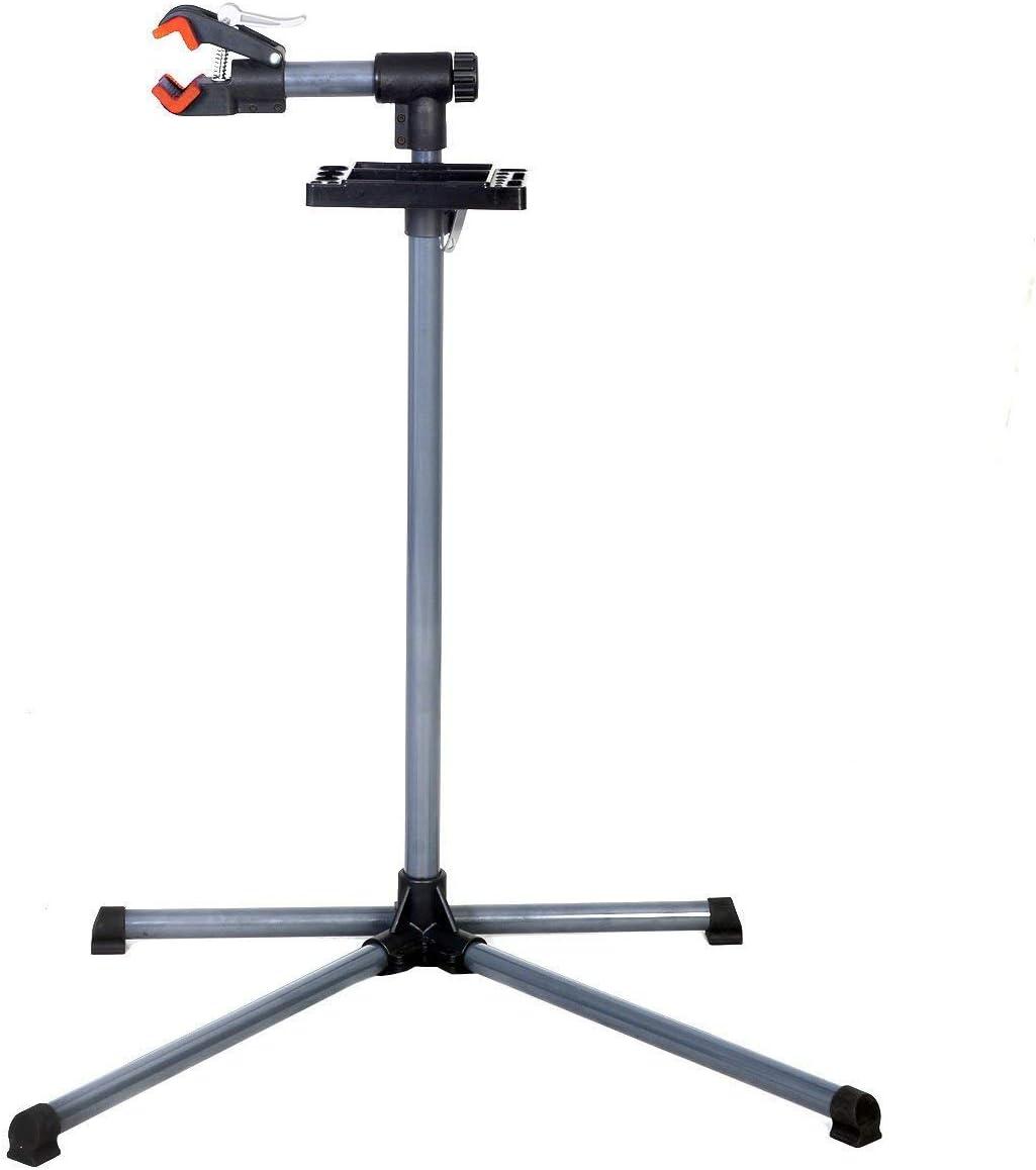 COSTWAY Support de R/éparation de V/élo Pied d/'Atelier pour V/élo Hauteur R/églable 110cm-143 cm Pivotant Jusqu/'/à 360/°