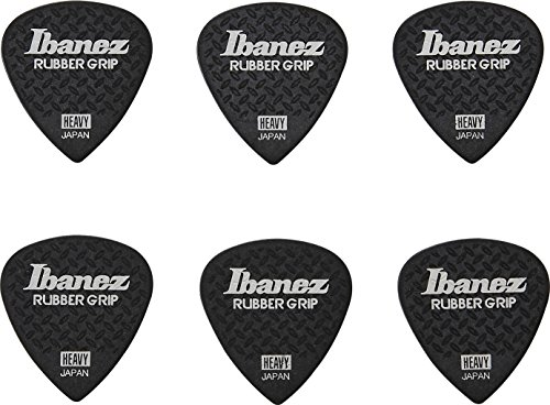 Ibanez Grip Wizard PPA16HRGBK Guitar Picks, Black, ()