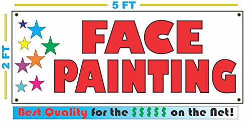 Hot FACE PAINTING with STARS Banner sign for cheap
