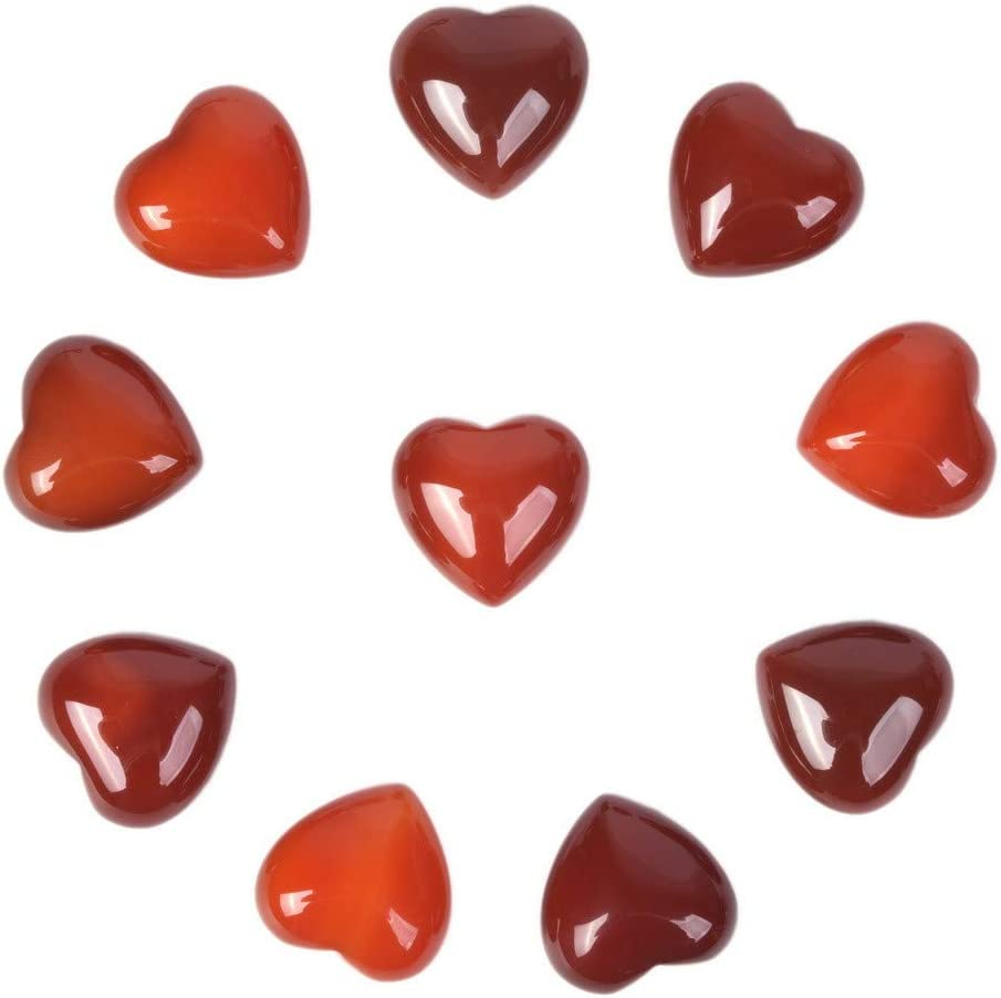 Valentine/'s Day Heart Gift Sets!! Polished Carnelian Crystal ~ Thoughtful V-day Package!