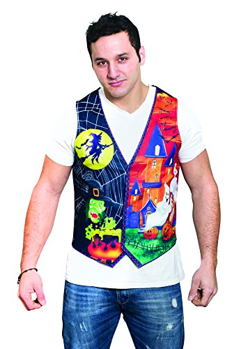 HMS Men's Guys Ugly Halloween Vest, Multi, Large/X-Large ()