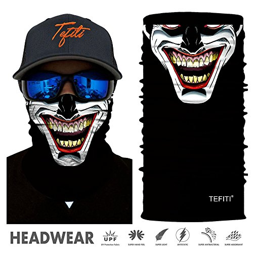 TEFITI Versatile Face Masks Casual Balaclava Headwear Stretchable Bandana Headbands Wind/Sun/UV Protection for Cycling,Motorcycling,Fishing,Hunting,Hiking,Yard Working and Other (HR-040374)]()