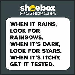 2017 Shoebox by Hallmark Daily Desktop Calendar: Hallmark ...