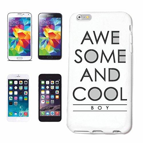 """cas de téléphone iPhone 6+ Plus """"AWE QUELQUES AMD BOY COOL COOL IMPRESSIONNANT IDÉES CADEAUX BOY"""" Hard Case Cover Téléphone Covers Smart Cover pour Apple iPhone en blanc"""