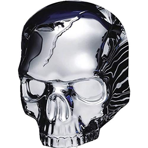 (Kuryakyn Skull Horn Cover Compatible for Harley-Davidson 17-19 Models with Stock Waterfall - Chrome)