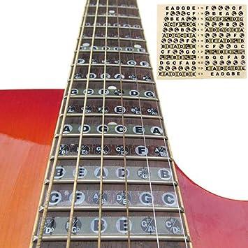 yibenwanligod - Adhesivo Decorativo para Tablero de Notas de Guitarra, para Principiantes, aprendices: Amazon.es: Hogar