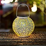 TAKE ME Solar Lantern Outdoor,Garden Hanging Lights Waterproof 7 Lumens Warm White LED Lamp for Patio,Outside or Table