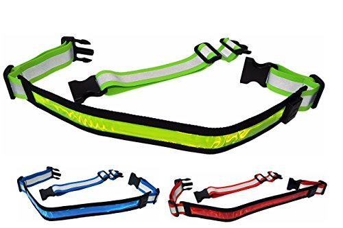 LED Reflective Belt WITH Extension Belt - High Visibility...