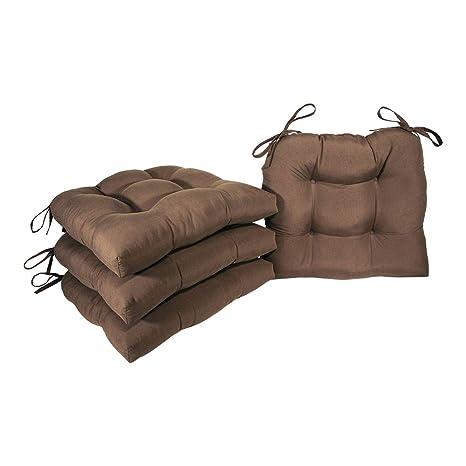 Amazon.com: Arlee Micro Suede 16 x 16 en. Tieback silla Pad ...