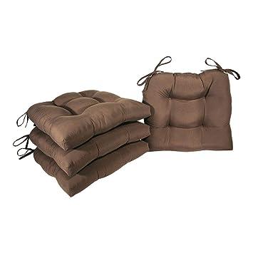 Amazon.com: Arlee - Cojín para silla de microfibra, lazos de ...