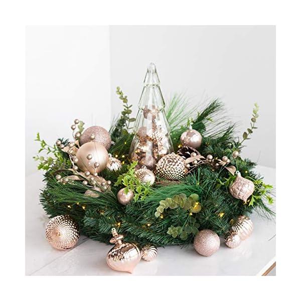 Busybee Unbekannt Palline di Natale 34 Pezzi 6 cm Rosa Cipria Palline Natalizie Ornamento di Palla di Natale per la Decorazione dell'albero di Natale 4 spesavip