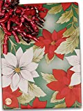 30'' X 417' Vintage Poinsettia Gift Wrap
