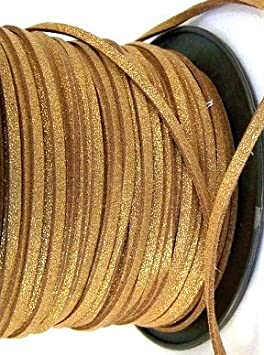 UnCommon Artistry Faux Leather Suede Beading Cord Metallic Orchid, 10 ft