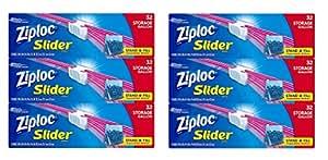 Ziploc Slider Storage Bags, Gallon Size ryEZudl, 2Pack (96 Count)