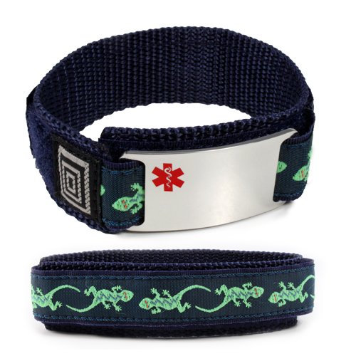 taking-plavix-medical-id-alert-bracelet-with-lizard-velcro-wrist-band