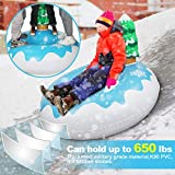 Extra Large 50 Inch Snow Tube with Backrest Tree No