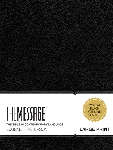 The Message Large Print: The Bible in Contemporary Language (First Book Challenge) by Tyndale House Publishers