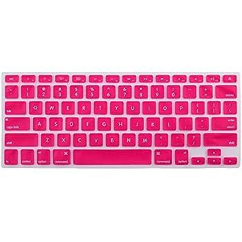 eDealMax teclado de silicona cubierta del Protector de la piel Fucsia portátil inalámbrica Bluethooth Para el iMac