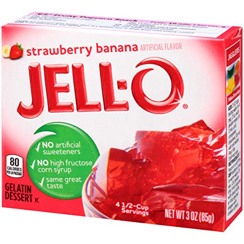 Jell-O Strawberry Banana Gelatin Dessert Mix, 3 oz Box by Jell-O (Image #6)