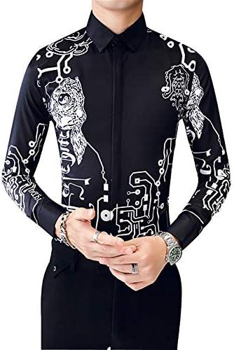 IYFBXl Camisa de algodón de Talla Grande para Hombre - Tribal/Manga Larga, Negro, M: Amazon.es: Deportes y aire libre