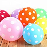Zebratown 100pcs/lot Colors Polka Dot Balloons Wedding Marry Marriage Room Decoration Essential 12 Inch Round Ballon Classic Toys