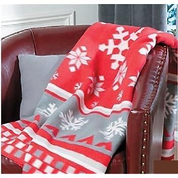 Amazon.com: Fair Isle Throw Blanket Holiday & Seasonal Christmas ...