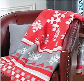 Amazon.com: Fair Isle Throw Blanket Holiday & Seasonal Christmas ...