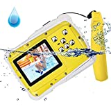 Kids Camera 12MP HD Waterproof Camcorder with 2 Inch LCD 4x Optical Zoom