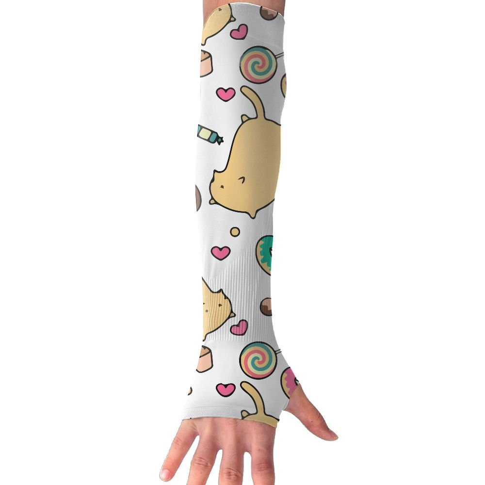 MAMAC Lovely Cat Gloves Unisex Anti-UV Sun Protection Cooling Sun Sports Arm Sleeves