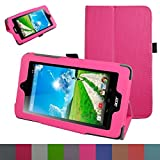 Acer Iconia B1-770 Case,Mama Mouth PU Leather Folio 2-folding Stand Cover with Stylus Holder for 7