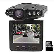 HYLM LCD HD Car DVR Driving Recorder avec 120 degrés grand angle / vision nocturne / Prise en charge jusqu'à 32 Go Carte SD / MMC / enregistrement cyclisé Caméra portable caméra caméscope DVR Carcorder , packages four