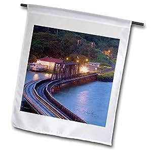 Danita Delimont - Bridges - Panama Canal, Chagres river, train bridge - SA15 CZI0508 - Christian Ziegler - 12 x 18 inch Garden Flag (fl_86907_1)