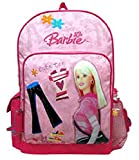Barbie Pink Clothes & Jeans - Cute Tee Large Backpack with Water Bottle -