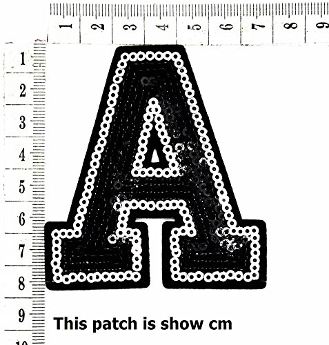 English (A) Letter Character Alphabet Sequin Shine Shiny Cartoon Chidren Kids Embroidren Iron Patch/Logo Sew On Patch Clothes Bag T-Shirt Jeans Biker Badge Applique