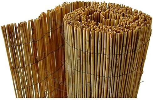 1m  x  4m Natural Peeled Reed Screening Roll Garden Screen Fence Fencing Panel 4m