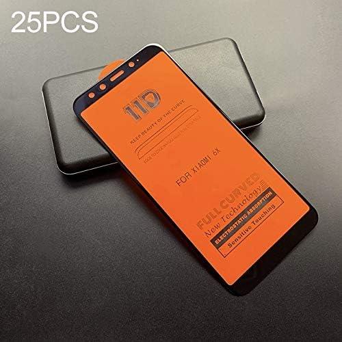 A2 LGYD 25 PCS Scratchproof 11D HD Full Glue Full Curved Screen Tempered Glass Film for Xiaomi Mi 6X Black Color : Black