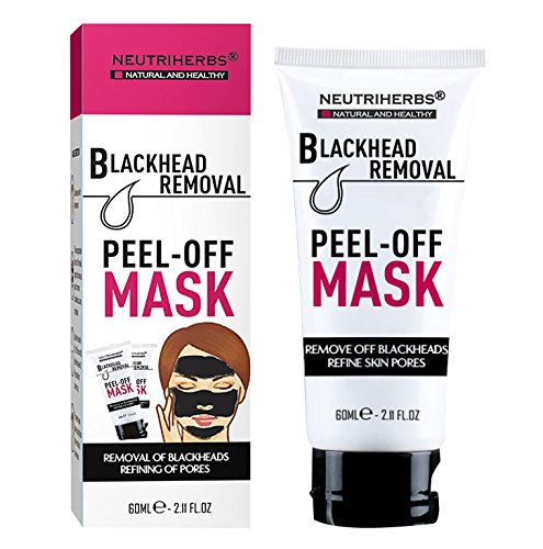 All Natural Activated Carbon Black Mask Mud, Blackhead Remover Peel Off Mask: Deeply Cleans Pores, Removes Dirt & Oil, Improves Acne, Brightens Skin. - Off Animal