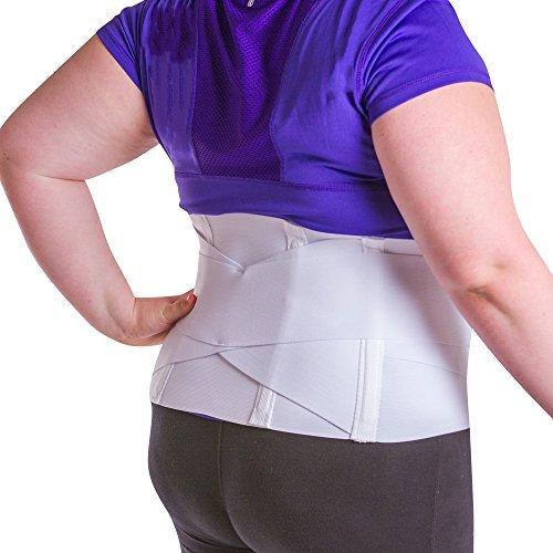 (BraceAbility Women's 3XL Plus Size Back Brace for Female Lower Back Pain Treatment & Lumbar Support)