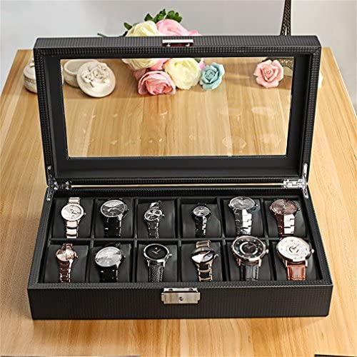 Watch-HLH Scatola da 12 scatole per Orologio da Polso Custodia da Orologio da Esposizione con Cassa in plastica per Orologio da 12 Orologi