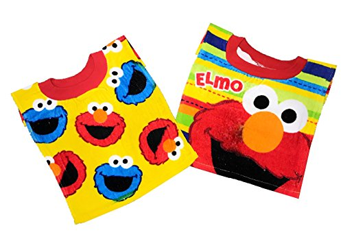 Sesame Street Elmo Baby Bibs- 2 Piece Pack (Yellow Pattern/Stripes Elmo) (Stripes Bib Toddler)