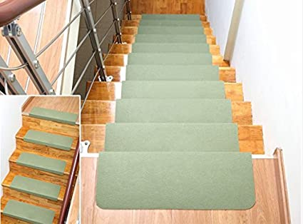 Home Cal 13 Non Slip Stair Treads, Easy Tape Installation U0026 Rubber Backing  (Green