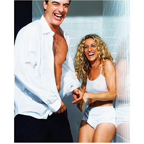 Sex and the City Sarah Jessica Parker as Carrie Bradshaw and Chris Noth as Mr. Big Laughing Together 8 x 10 Inch Photo ()