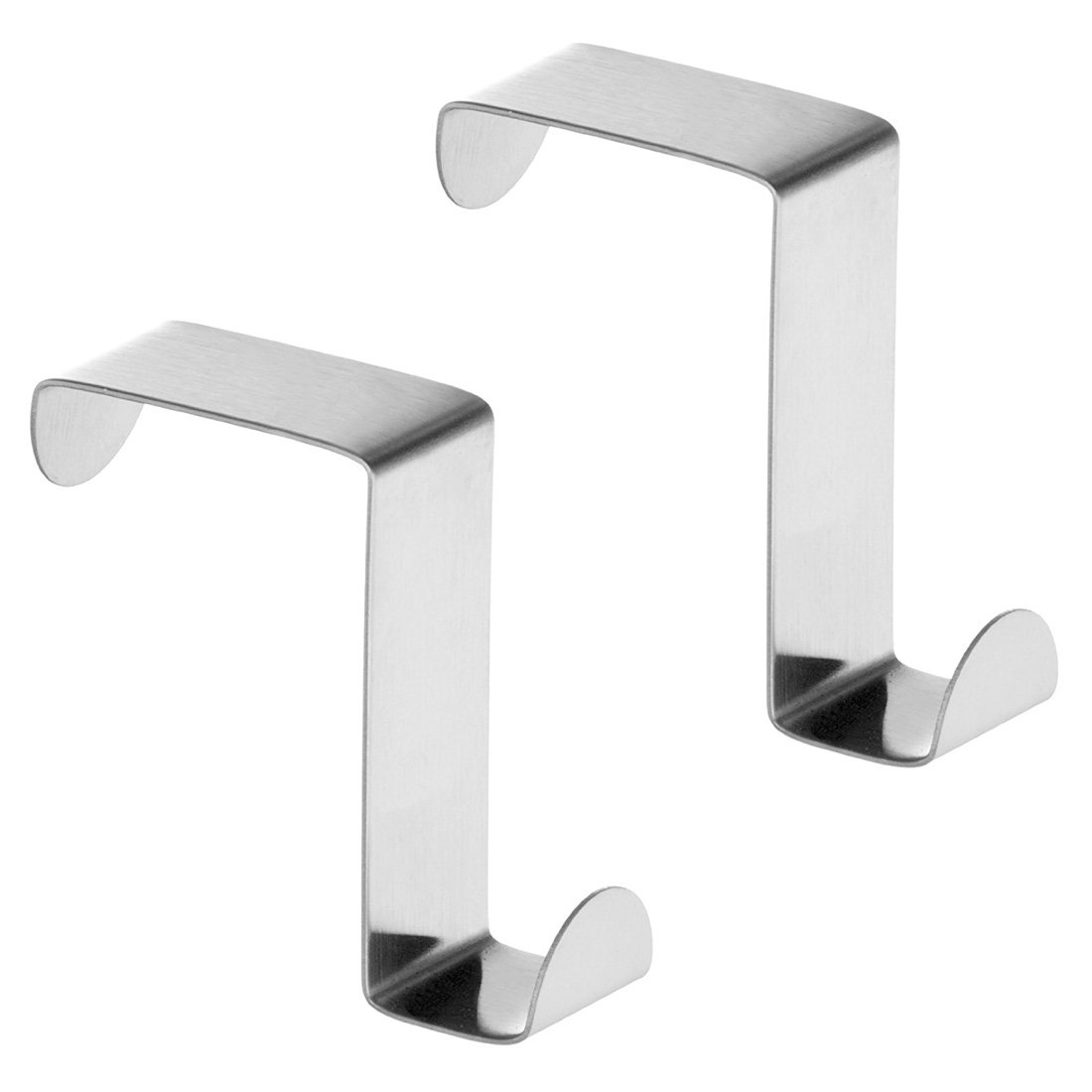 Hisuper-Store 2PCS Stainless Steel Cupboard and Drawer Hooks