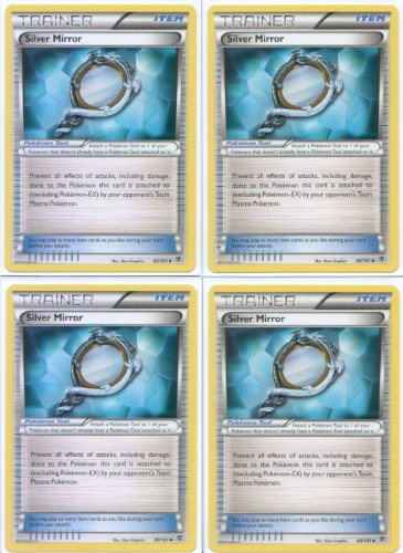 x4 Silver Mirror (Plasma Blast #89/101) Pokemon Card Playset [Trainer-Item]