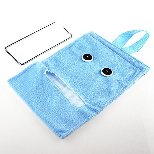durable service BRILA cute elfin style roll paper holder cover, creative haning toilet paper holder cover and gift (blue)