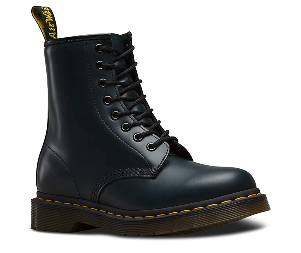Navy Smooth Dr. Martens 1460 Originals Eight-Eye Lace-Up Boot