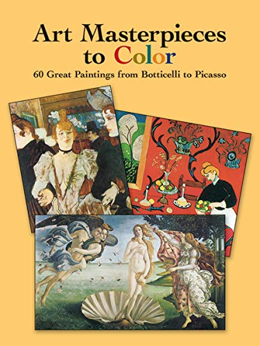 Art Masterpieces to Color: 60 Great Paintings from Botticelli to Picasso (Dover Art Coloring Book) (Dali Painting Abstract)