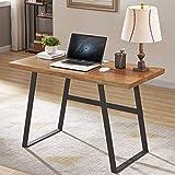 Cheap BON AUGURE 47″ Industrial Computer Desk for Home Office, Rustic Simple Writing Desk, Vintage Workstation Wood Desk & Retro Study Table (Cherry Natural)